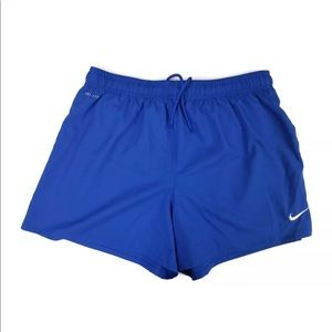Nike Dri-Fit running workout shorts size L blue